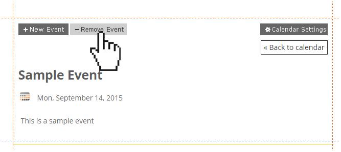 Managing Events - Website com Knowledge Base